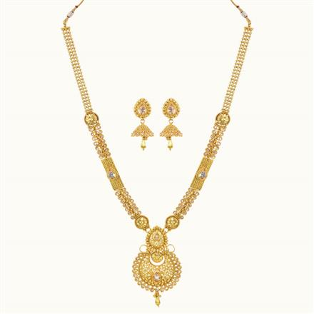 10749 Antique Long Necklace with gold plating
