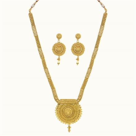 10750 Antique Long Necklace with gold plating