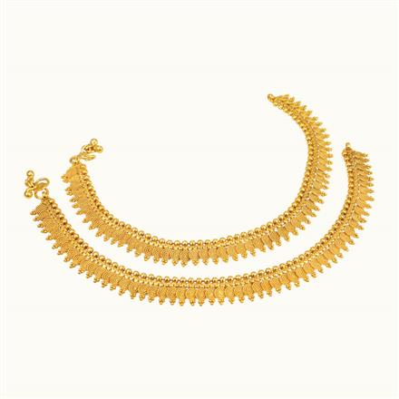 10752 Antique Plain Gold Payal