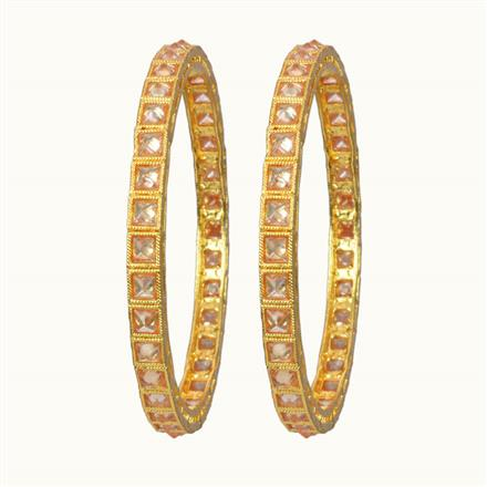 10753 Antique 2 Pc Bangle with gold plating