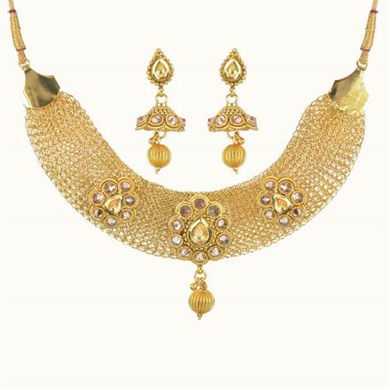 10755 Antique Classic Necklace with gold plating