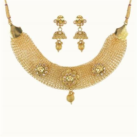 10756 Antique Classic Necklace with gold plating