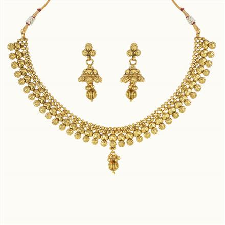 10757 Antique Delicate Necklace with gold plating