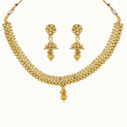 10758 Antique Delicate Necklace with gold plating