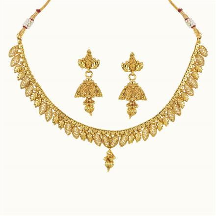 10759 Antique Delicate Necklace with gold plating