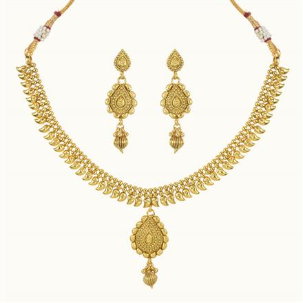 10760 Antique Delicate Necklace with gold plating
