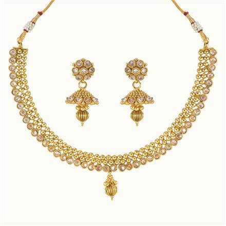 10762 Antique Delicate Necklace with gold plating