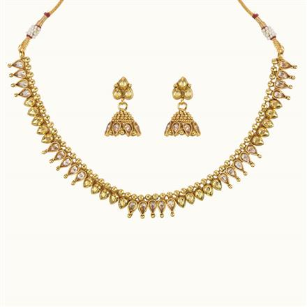 10763 Antique Delicate Necklace with gold plating