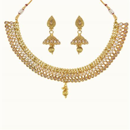 10764 Antique Classic Necklace with gold plating