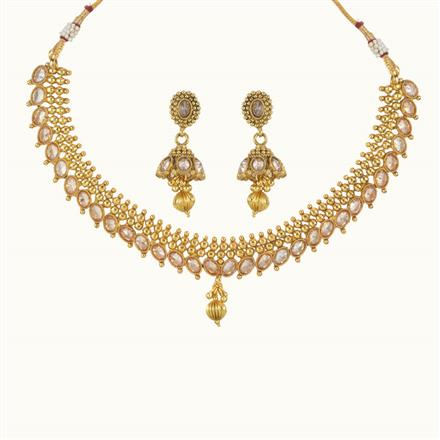 10765 Antique Delicate Necklace with gold plating