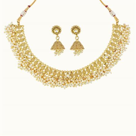 10766 Antique Classic Necklace with gold plating