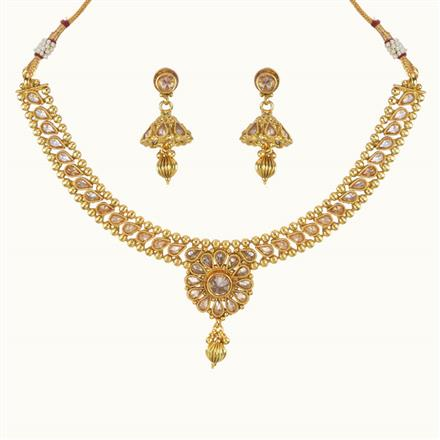 10767 Antique Delicate Necklace with gold plating