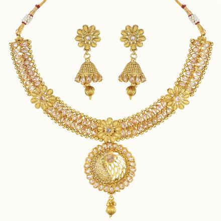 10768 Antique Classic Necklace with gold plating