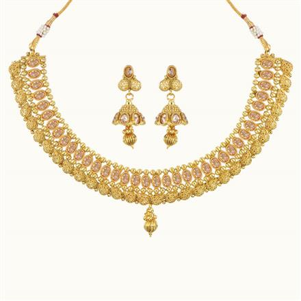 10769 Antique Classic Necklace with gold plating
