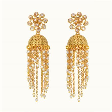 10770 Antique Jhumki with gold plating