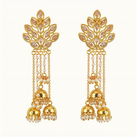 10771 Antique Jhumki with gold plating