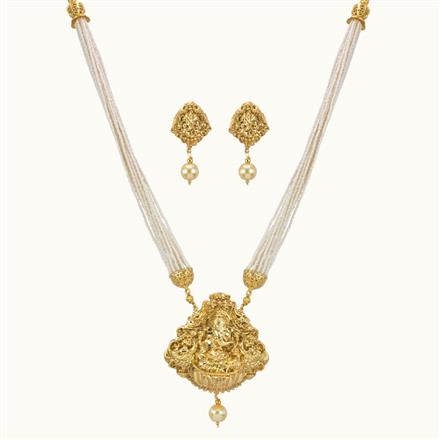 10774 Antique Temple Pendant Set with gold plating