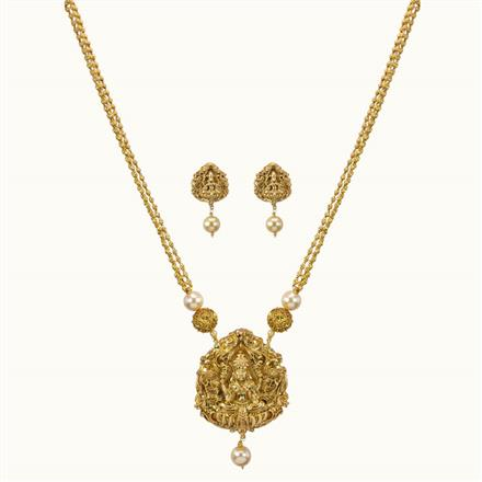 10776 Antique Temple Pendant Set with gold plating