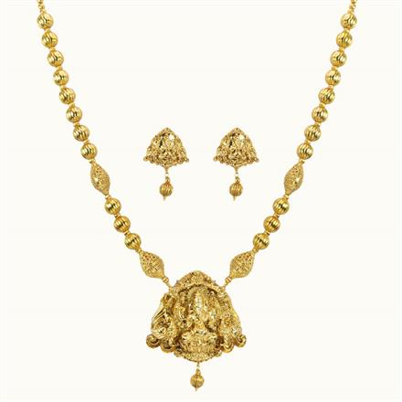 10777 Antique Temple Pendant Set with gold plating