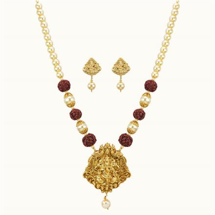 10778 Antique Temple Pendant Set with gold plating