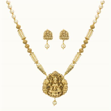 10779 Antique Temple Pendant Set with gold plating