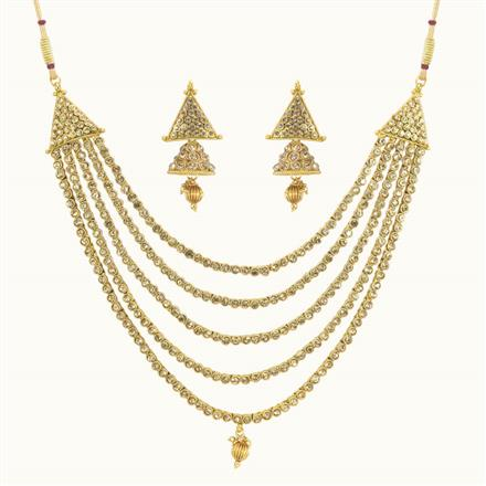10780 Antique Classic Necklace with gold plating