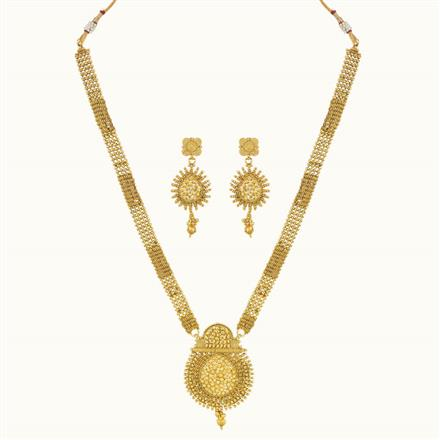 10781 Antique Long Necklace with gold plating