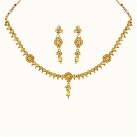 10782 Antique Delicate Necklace with gold plating