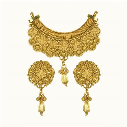 10784 Antique Plain Gold Mangalsutra