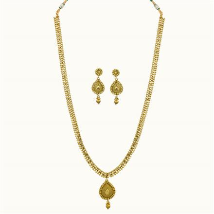 10785 Antique Long Necklace with gold plating