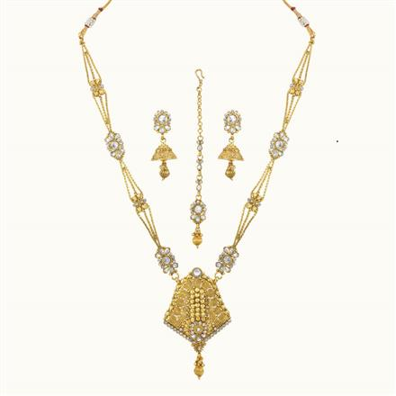 10786 Antique Long Necklace with gold plating