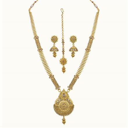 10787 Antique Long Necklace with gold plating