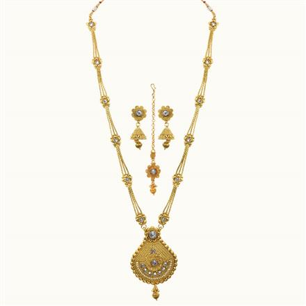10788 Antique Long Necklace with gold plating