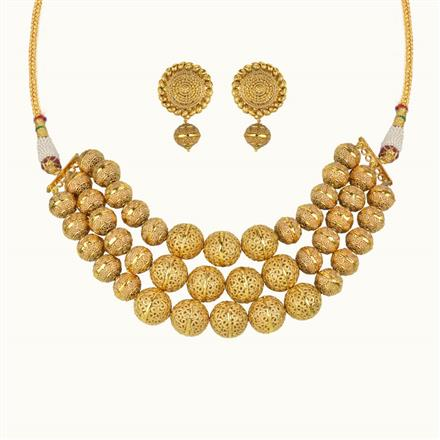 10793 Antique Choker Necklace with gold plating