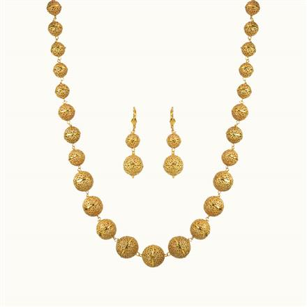 10794 Antique Mala Necklace with gold plating