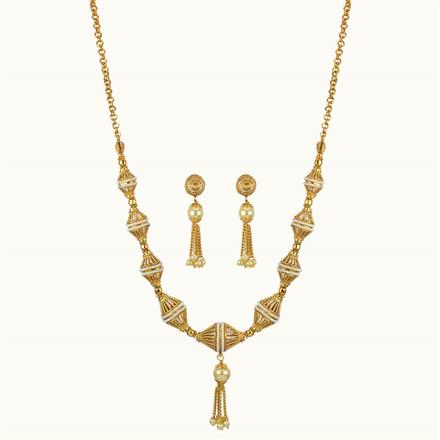 10795 Antique Mala Necklace with gold plating