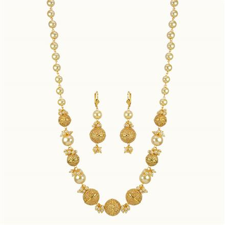 10796 Antique Mala Necklace with gold plating