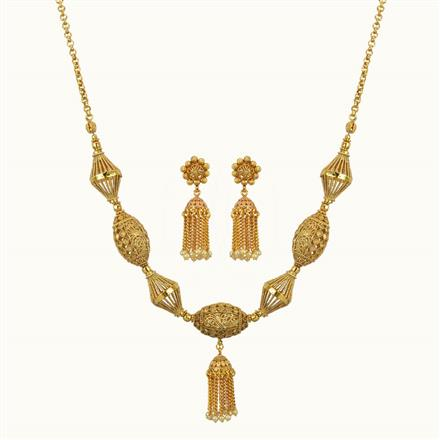 10797 Antique Mala Necklace with gold plating