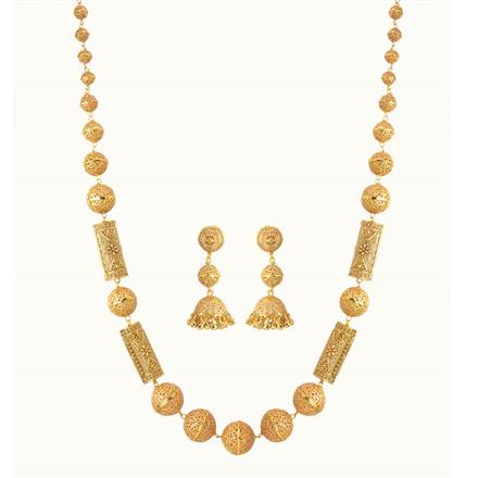 10798 Antique Long Necklace with gold plating