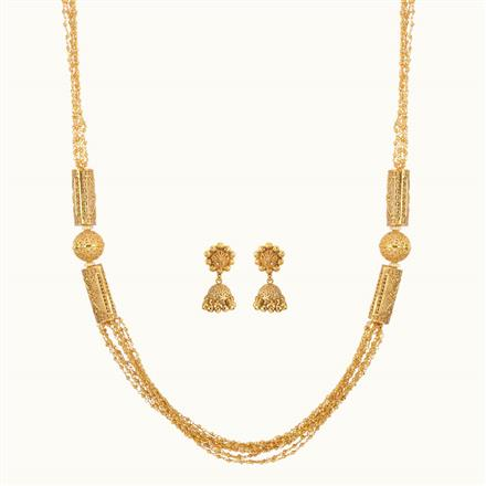 10799 Antique Long Necklace with gold plating
