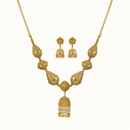 10800 Antique Mala Necklace with gold plating