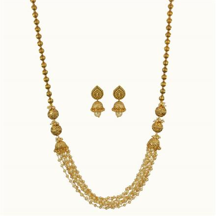 10801 Antique Long Necklace with gold plating