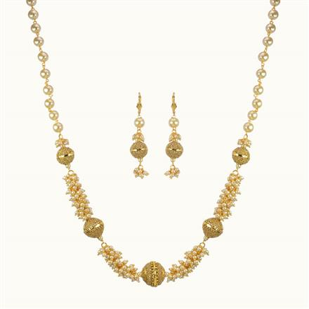 10802 Antique Mala Necklace with gold plating