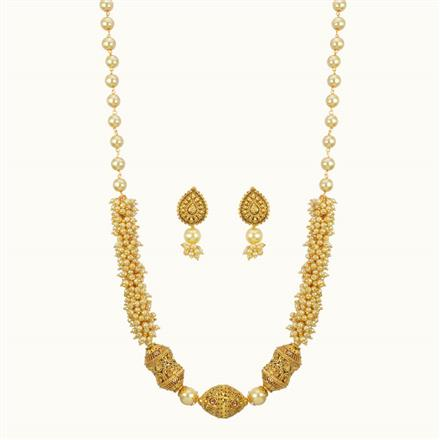 10803 Antique Mala Necklace with gold plating