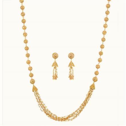 10804 Antique Long Necklace with gold plating