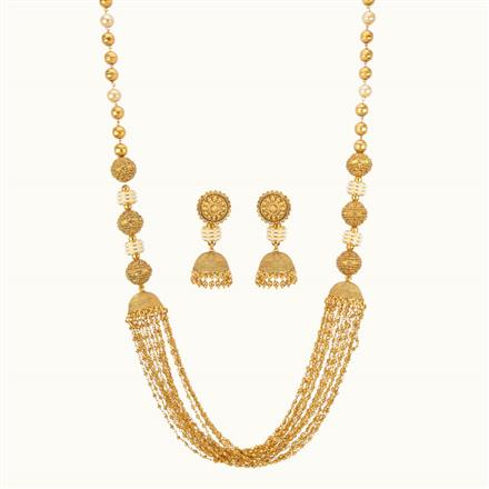 10805 Antique Long Necklace with gold plating