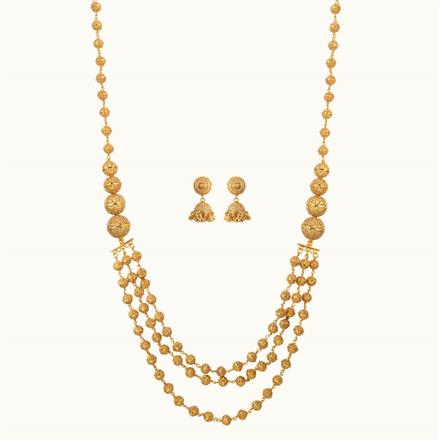 10806 Antique Long Necklace with gold plating