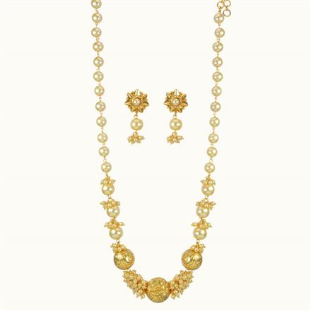 10807 Antique Mala Necklace with gold plating