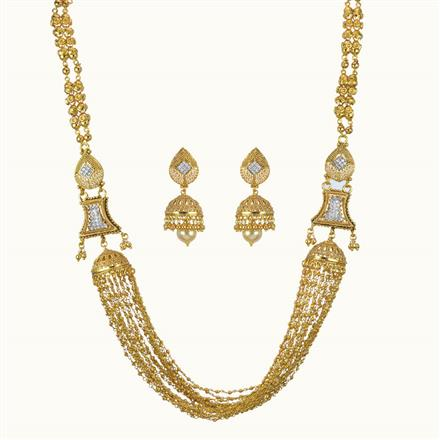 10808 Antique Long Necklace with gold plating