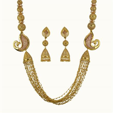 10809 Antique Long Necklace with gold plating